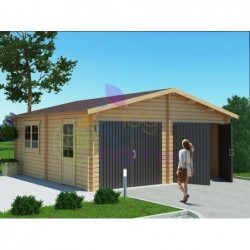 Double wooden garage 387SQF...